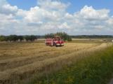 Boj s ohnivým živlem krok za krokem. Hasiči zdolávají požár pole u Horčápska. (5)