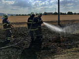 Aktuálně: Mimořádné nasazení hasičů si momentálně vyžádala likvidace požáru pole na Rožmitálsku (36)