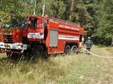 AKTUÁLNĚ: U vrcholu kopce Strážný, nedaleko Trhových Dušníků hoří les (26)
