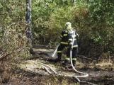 AKTUÁLNĚ: U vrcholu kopce Strážný, nedaleko Trhových Dušníků hoří les (12)