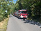 Dobrovolní hasiči měli minulý týden napilno, jeli hasit lesní porost i osobní vůz (2)