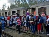 Nejednalo se o požár, ale Příbramí projel parní vlak (42)