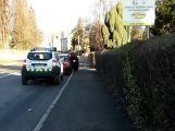 V Březnici se srazily dva vozy, nikomu se nic nestalo ()