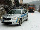Sníh dělá řidičům problémy, hlášeno je hned několik nehod (1)