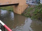 Příbramsko přes noc zasáhly vytrvalé deště, Litavka v Čenkově hlásí první stupeň (4)