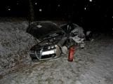 Dopravní nehoda dvou osobních vozidel na silnici č. 19 u Rožmitálu pod Třemšínem (1)