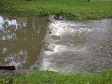 Příbramsko přes noc zasáhly vytrvalé deště, Litavka v Čenkově hlásí první stupeň (6)