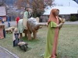 V Čenkově je k vidění ohromný betlém ze sena (8)