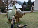 V Čenkově je k vidění ohromný betlém ze sena (1)