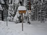 Zimní Brdy uvítaly účastníky pochodu pořádnou sněhovou nadílkou (51)