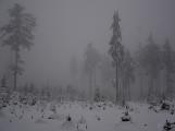 Zimní Brdy uvítaly účastníky pochodu pořádnou sněhovou nadílkou (58)