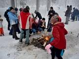 Zimní Brdy uvítaly účastníky pochodu pořádnou sněhovou nadílkou (21)