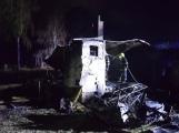 Na Živohošti byla požárem zasažena celá chata (1)