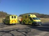 U Felbabky došlo k vážné nehodě, pro zraněného přilétl vrtulník (5)