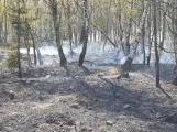 Příčina včerejšího požáru v CHKO: Odlétnutí segmentů po řízeném výbuchu ()