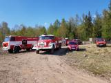 Příčina včerejšího požáru v CHKO: Odlétnutí segmentů po řízeném výbuchu (2)