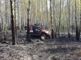Příčina včerejšího požáru v CHKO: Odlétnutí segmentů po řízeném výbuchu (4)