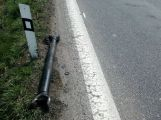 Uvolněná hřídel má na svědomí 3 poškozené vozy (1)