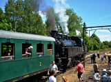 Na nádraží opět zasyčela pára a zasupěla parní lokomotiva (25)