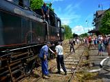 Na nádraží opět zasyčela pára a zasupěla parní lokomotiva (3)