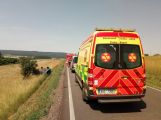 U obce Kardavec došlo v tuto chvíli k autonehodě se zraněním (3)