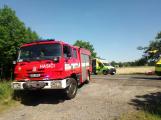 Vážná dopravní nehoda motorkáře u Vysoké Pece. Na místě přistává vrtulník (5)