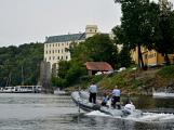 Hladinu Orlické přehrady křižovaly čluny Policie ČR a Státní plavební správy (36)