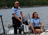 Hladinu Orlické přehrady křižovaly čluny Policie ČR a Státní plavební správy (34)