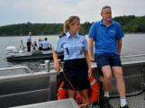 Hladinu Orlické přehrady křižovaly čluny Policie ČR a Státní plavební správy (23)