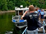 Hladinu Orlické přehrady křižovaly čluny Policie ČR a Státní plavební správy (15)