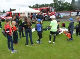 Dobříšský fotbalový stadion obsadily složky Integrovaného záchranného systému (12)