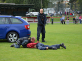 Dobříšský fotbalový stadion obsadily složky Integrovaného záchranného systému ()