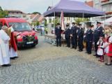 V sobotu oslavili březničtí hasiči narozeniny, mezi dárky byl i nový automobil (56)