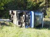 Cvičení záchranných složek: Na Příbramsku havaroval autobus s vězni, dva utekli (18)