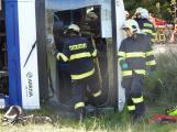 Cvičení záchranných složek: Na Příbramsku havaroval autobus s vězni, dva utekli (19)