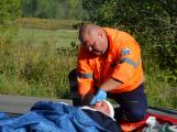 Cvičení záchranných složek: Na Příbramsku havaroval autobus s vězni, dva utekli (21)