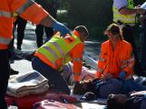 Cvičení záchranných složek: Na Příbramsku havaroval autobus s vězni, dva utekli (23)
