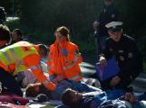 Cvičení záchranných složek: Na Příbramsku havaroval autobus s vězni, dva utekli (24)