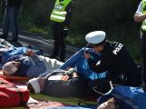 Cvičení záchranných složek: Na Příbramsku havaroval autobus s vězni, dva utekli (25)
