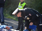 Cvičení záchranných složek: Na Příbramsku havaroval autobus s vězni, dva utekli (26)