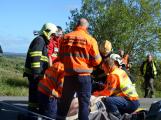 Cvičení záchranných složek: Na Příbramsku havaroval autobus s vězni, dva utekli (27)
