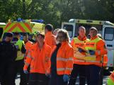 Cvičení záchranných složek: Na Příbramsku havaroval autobus s vězni, dva utekli (28)