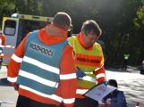 Cvičení záchranných složek: Na Příbramsku havaroval autobus s vězni, dva utekli (1)