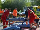 Cvičení záchranných složek: Na Příbramsku havaroval autobus s vězni, dva utekli (2)