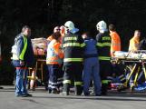 Cvičení záchranných složek: Na Příbramsku havaroval autobus s vězni, dva utekli (6)