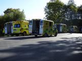 Cvičení záchranných složek: Na Příbramsku havaroval autobus s vězni, dva utekli (29)