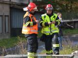 Složky IZS procvičovaly zásah u požáru s výskytem nebezpečné látky (76)