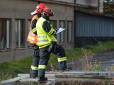 Složky IZS procvičovaly zásah u požáru s výskytem nebezpečné látky (81)