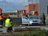 Složky IZS procvičovaly zásah u požáru s výskytem nebezpečné látky (60)