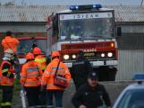 Složky IZS procvičovaly zásah u požáru s výskytem nebezpečné látky (64)